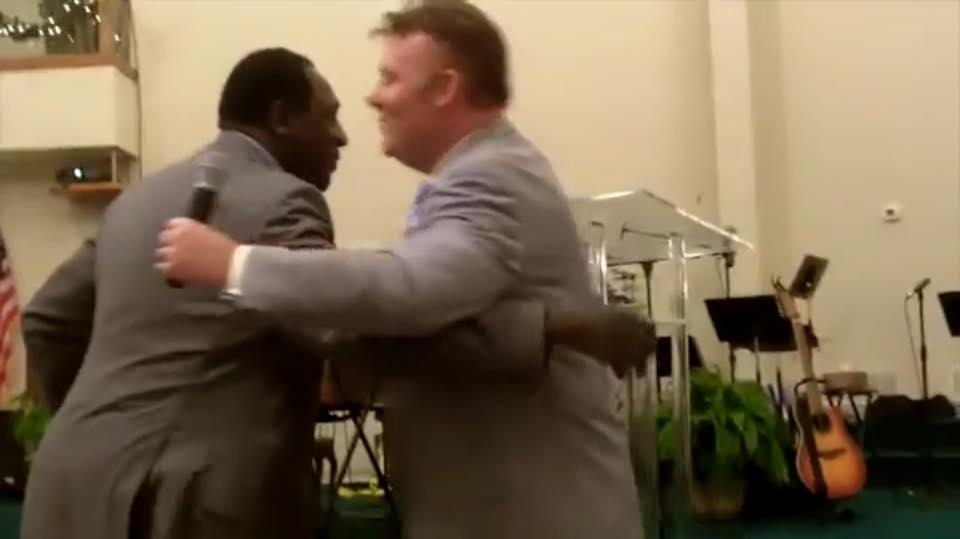 Meadowlark & Frank hug